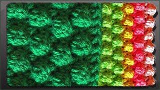 Узор шишечки. Шишечки крючком. Вязание узора. (crochet pattern)