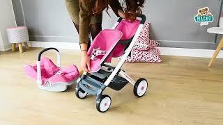 Szett hinta, autósülés és etetőszék játékbabának 3