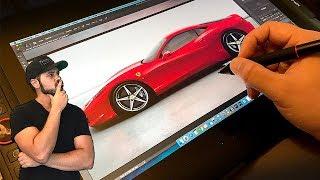Ferrari 458 Italia Re-design with the XP-Pen Artist 15.6 Pro - Will it get the job done?