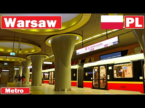 Poland , Warsaw metro 2018 / Metro w Warszawie 2018
