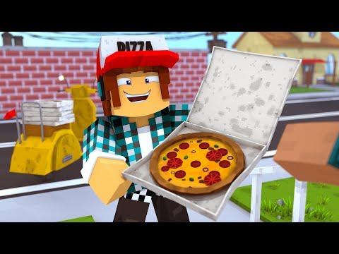 Minecraft: VIREI ENTREGADOR DE PIZZA !! thumbnail