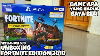 FREE PLAYSTATION PLUS UNBOXING PS4 SLIM FORTNITE EDITION 2018