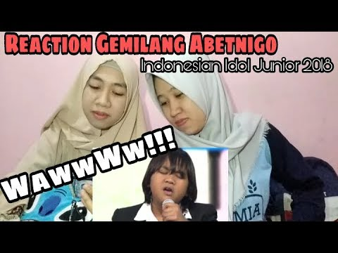 Reaction GEMILANG ABETNEGO- Mimpi (Anggun)- ELIMINATION 2- INDONESIAN IDOL JUNIOR 2018
