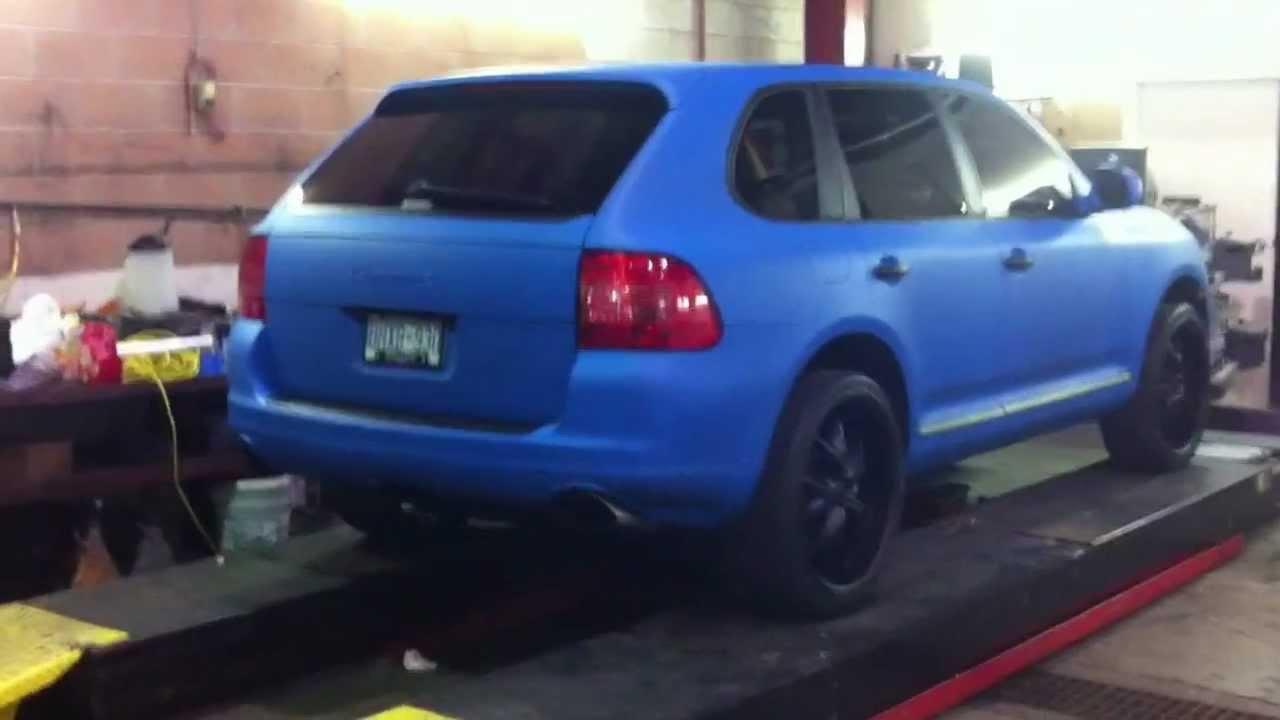 Matte Blue Plasti Dipped Porsche Cayenne By Dipyourwhip
