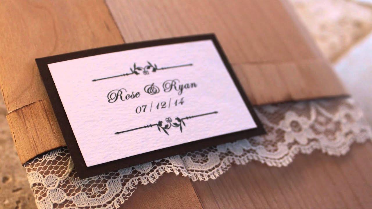 Real Wood Wedding Invitations: Wooden Wedding Invitations- Real Wood Wedding Invite