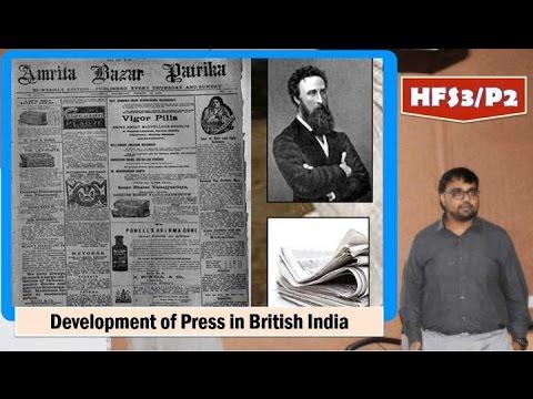 HFS3/P2: British India: Vernacular Press and freedom of speech