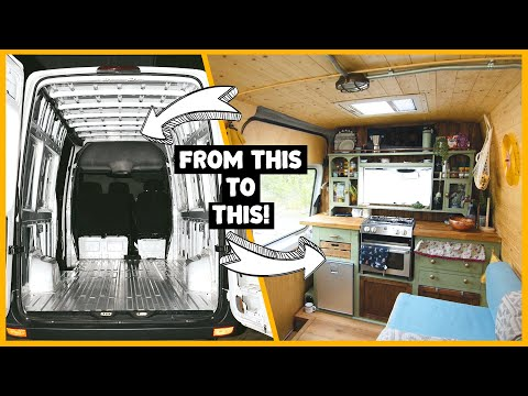 how-to-easily-convert-a-van-into-an-off-grid-tiny-home- -start-to-finish!