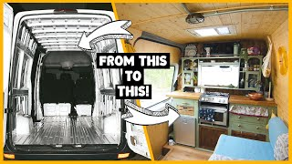 HOW TO EASILY CONVERT A VAN INTO AN OFF-GRID TINY HOME | START TO FINISH!