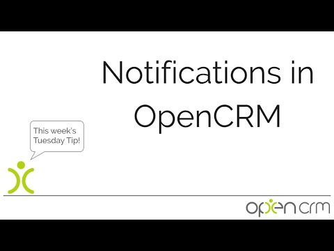 Notifications in OpenCRM