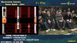 Mega Man 9 Speed Run (0:32:56) by usedpizza #AGDQ 2014