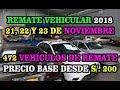 NUEVO REMATE VEHÍCULAR DEL SAT (PRECIO BASE DE SUBASTA DESDE 200 SOLES) - 472 VEHÍCULOS