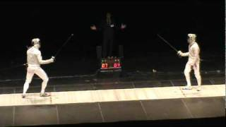 Fencing Masters Semifinal - Daryl Homer USA and Aldo Montano ITA