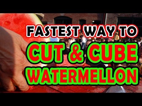 The Easiest Way to Cut and Cube a Watermelon
