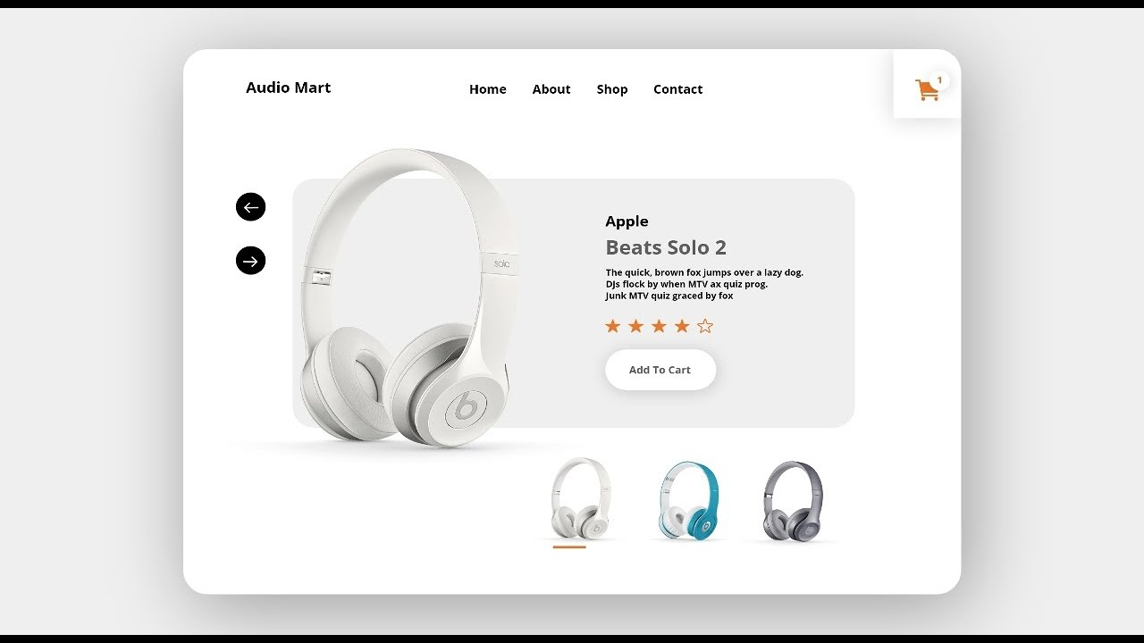 How To Design Apple Beats Solo Headphone Design Landing Page In Adobe XD
