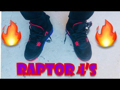 "0d7321d5707e61 Air Jordan 4 ""Raptor "" review   on feet🔥🔥🔥 - YouTube"