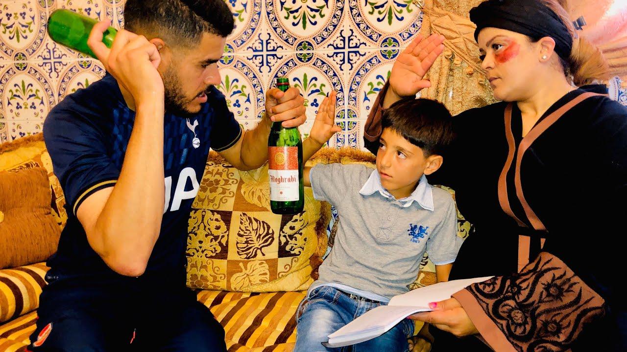 بسبب الخمر يعتدي كل يوم على زوجته أمام ابنها ... تابع النهاية الحزينة