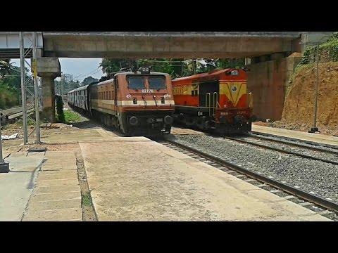Kerala Express arriving Tiruvalla railway station