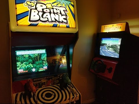 Ridge Racer Upright And Point Blank Arcade Machines Youtube