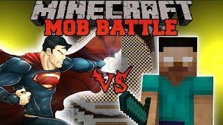 HEROBRINE VS SUPERMAN - Minecraft Mod Battle - Mob Battles - Superheroes Unlimited and Herobrine Mod thumbnail
