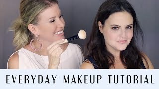 NATURAL EVERYDAY MAKEUP TUTORIAL  ft. JEN LUVS REVIEWS  | OVER 40