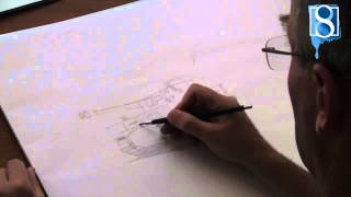 How to Draw a Tiger Tank step-by-step by Mark Bergin