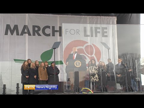President Trump makes history by attending March for Life rally - EWTN News Nightly