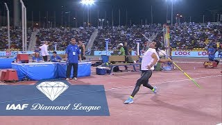 Neeraj Chopra Sets A New Indian Record In The Men's Javelin Throw - IAAF Diamond League Doha 2018