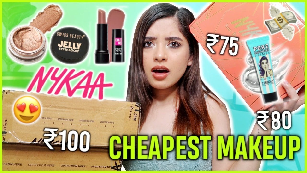 Trying the *Cheapest* Makeup From NYKAA | EVERYTHING UNDER ₹250 | Anindita Chakravarty