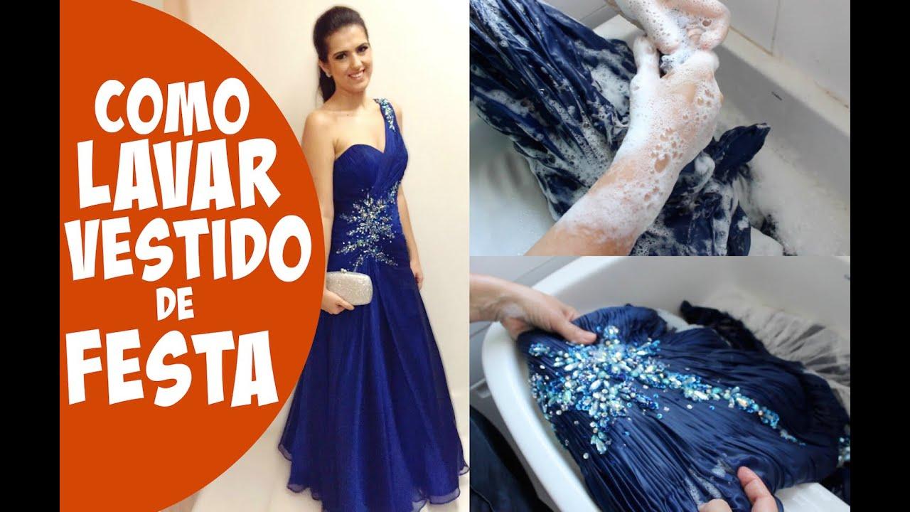 Como lavar un vestido de noche en casa