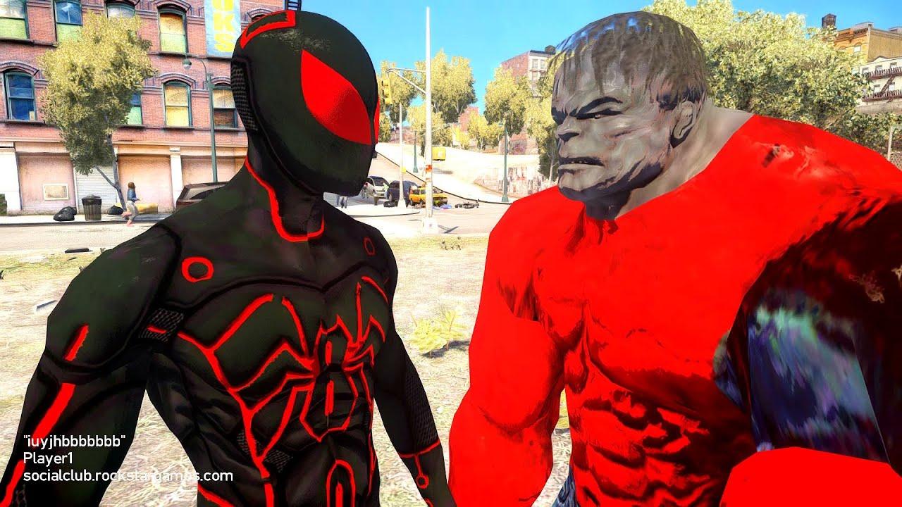Spiderman vs Hulk - Tron Spider-Man - YouTube
