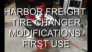 HARBOR FREIGHT  TIRE CHANGER Modifications first use.