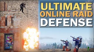 DEFENDING the ROCK BASE against ONLINE RAIDERS! - Rust Solo Survival