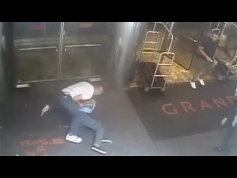 The surveillance video, released Friday by the NYPD, of former tennis star James Blake's mistaken arrest.