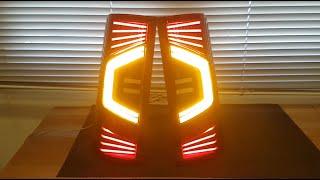 Как сделать светодиодный задний фонарь из плексигласа // Ford Connect
