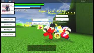 playing a old Dragon ball z game on roblox