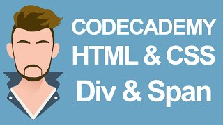 Codecademy HTML & CSS Div and Span
