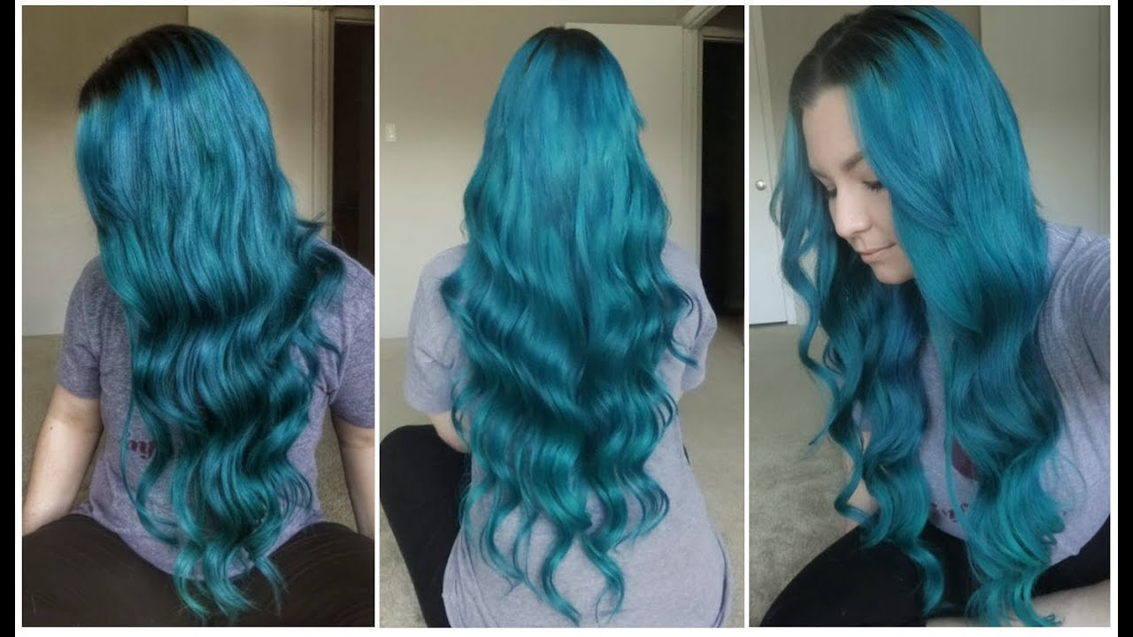 How I Dyed My Evawigs Extensions Emerald Green Youtube