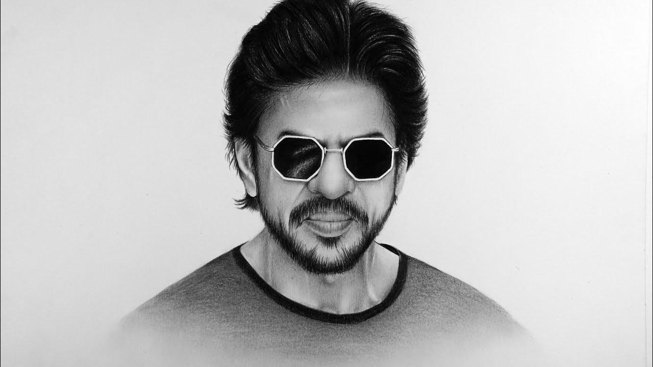 Portrait Pencil Drawing   Shahrukh Khan   SRK - YouTube