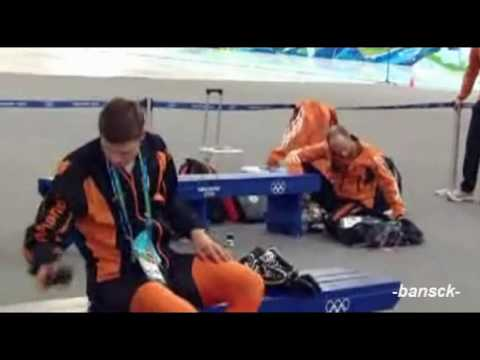 Sven Kramer - Direct reaction; insults his coach Vancouver 2010