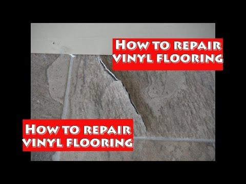 How to repair vinyl flooring!