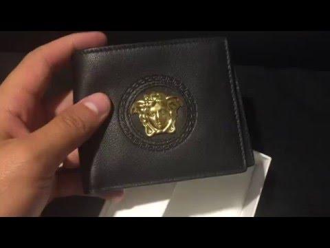 cf2e431db3 Versace Wallet (Black & Gold) - YouTube