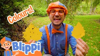 Learning Fall Colors With Blippi | Art Videos For Children | Educational Videos For Kids