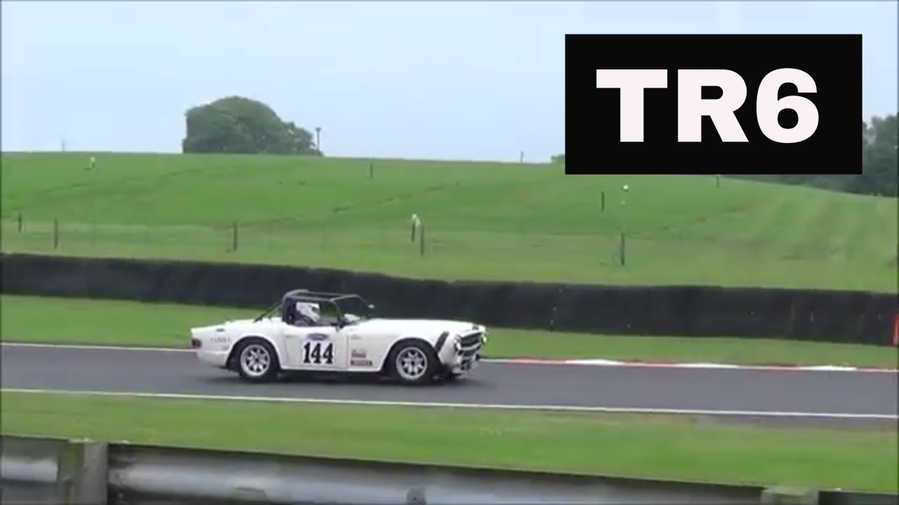 Triumph Tr6 On Track Engine Exhaust Sound Youtube