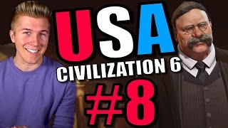 Civilization 6 Gameplay [Civ 6 America Let's Play] USA - Part 8 | Full Leader Playthrough!