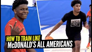 How The Top 2 Players In The Country Workout! Anthony Edwards & Vernon Carey Jr Workout w/ Remy!