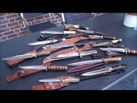 Bowiemesser Sammlung - Bowie Knives 2016 Tactical Daggers Survival Collector Vintage Collection Old