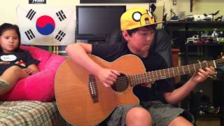 Adventure Time Ending Theme Song - Island Song - Acoustic Fingerstyle Guitar - Andrew Foy