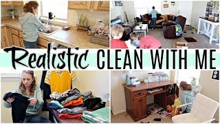 MESSY WHOLE HOUSE CLEAN WITH ME 2019 | REALISTIC TIME LAPSE SPEED CLEANING MOTIVATION