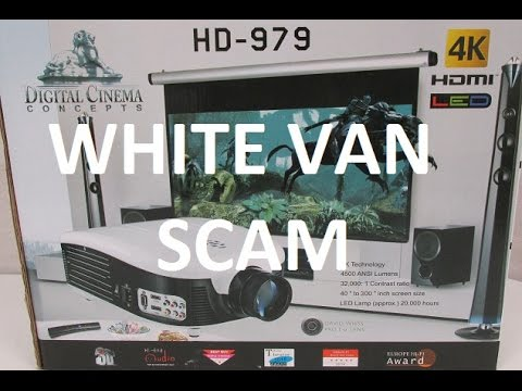 Scam Digital Cinema Concepts HD 979 projector, white van scam HD 979