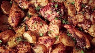 НОВИНКА Запечённая курица с картофелем в особом маринаде Просто пальчики оближешь